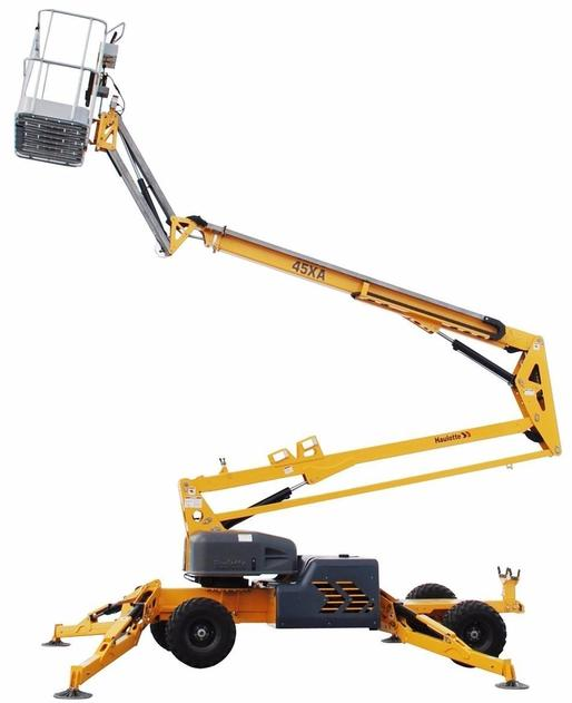 Hydraulic 51' Self-Propelled Boom Lift for rent